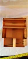 Heavy Angola Prisoner Art  Vintage Copper Box