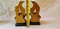 Pair of Gold Painted Pheasant Book Ends