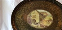Victoria Albert Handpainted Carved Wood Tray