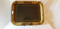 Mid 1800's Tole Tray Handpainted Fruit Medley