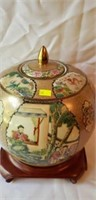 Stunning Asian Ginger Jar with lid & Stand
