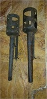 Pair of Vintage Metal Gothic Style Candleholders