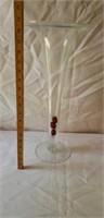 Tall Glass Modern Vase Very Nice