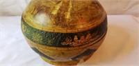 Vintage round handpainted Bowl As-is