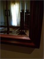 Beautiful Wooden Framed Bevelled Glass Mirror