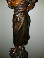 Beautiful Pair of Bronze Male & Female Statues