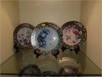 Lot of 8 Lena Liu's Hummingbird Treasury Plates