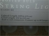 Lot of 3 World Market Frosted Bulb String Lights