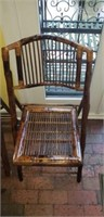 Seat of 6 Rattan fold up chairs