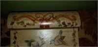 Beautiful bird design trinket box with velvet