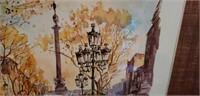 Legai watercolor print Barcelona,  La Rambla