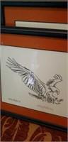 Kathryn Wheeler eagle drawings signed  Auburn