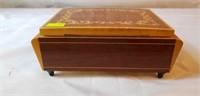 Beautiful Small Inlaid Wooden trinket box Italy