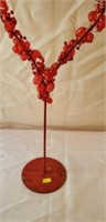 Tall Double Heart Decó Accent Piece