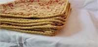 Lot of 10 Elegant Cloth Placemats Very Nice