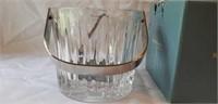 Reed & Barton Crystal Ice Bucket & Tongs