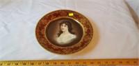 Amicitia Victorian lady Figural Plate