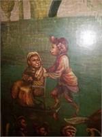 Large Handpainted Monkey Decor