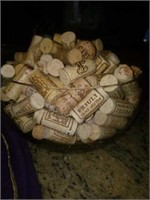 Lot of 3 Glass Bowls Full of Wine Corks