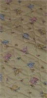 Lot of 2 quilts, yellow/white, yellow, pink, blue