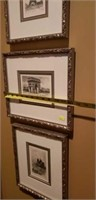 Lot of 3 Framed French Art Impressions