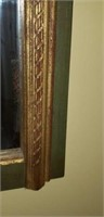 Beautiful antique style green and gold mirror