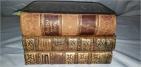 Lot of 3 Antique Books As-is