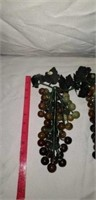 Lot of 3 Glass Grape Bunches NEAT