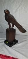 Stunning Bronze Falcon on Marble Base