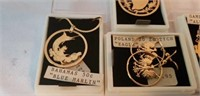 Lot of 4 Handcrafted From Coins Earrings