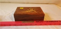 Wooden Box with Storks Coins inside
