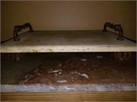 Stunning Stoneware & Iron Cutting Board