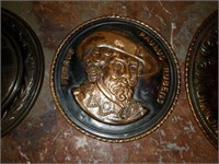 Lot of 4 Metal Decorative Plates