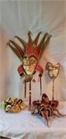 Lot of Very Cool Mardi Gra Masks
