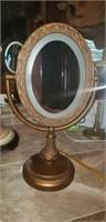Oil rubbed bronze magnifier mirror