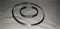 Russell Sterling Bracelet and Sterling Necklace