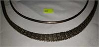 Lot of 2 Vintage Silver Necklaces
