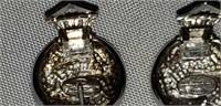 French Manegata Designer Sterling Earrings
