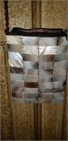 Shiraleal ivory shell tile evening bag