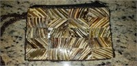 Mad by design spun silk and natural horn purse