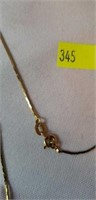Long 14K gold Chain with Jade Heart & More