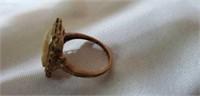 Vintage 10k Gold Cameo Ring