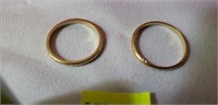 Pair of 14k Gold Small Rings
