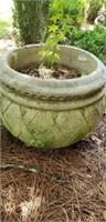 Large Vintage round Concrete Planter