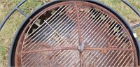 Outdoor Round Metal Firepit with Lid