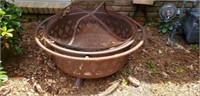 Outdoor Metal Firepit with Cover