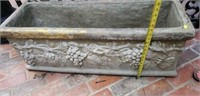 Pair of Large Concrete Vintage Planters