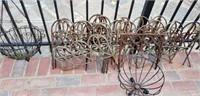 Huge lot of Outdoor Vintage Iron & Baskets