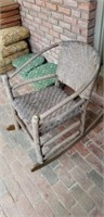 Primitive Outdoor Weaved Rocking Chair