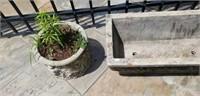 Lot of 2 Concrete Outdoor Planters
